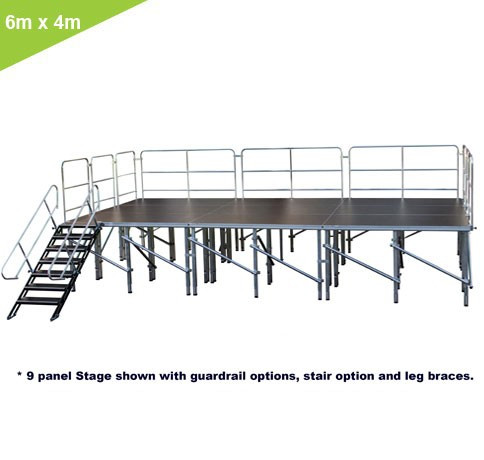 24 SQ. M. ADJUSTABLE HEIGHT STAGE SYSTEMS