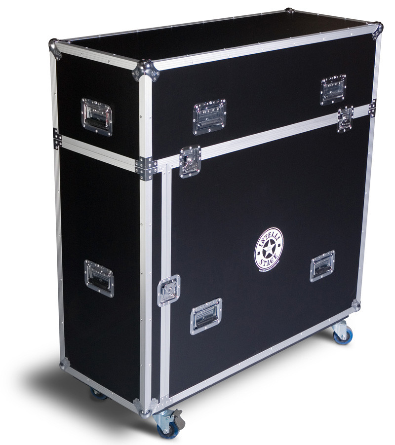 Flight Case for 6 pcs. of 2M x 1M platforms with matching risers and front acc. door 12mm ply