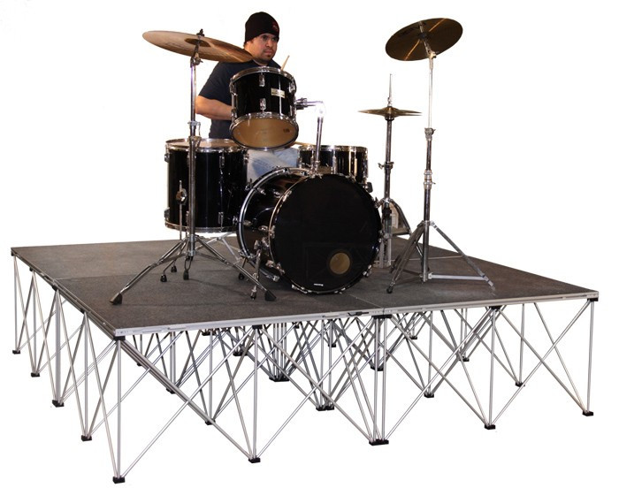 Drum Riser Platforms With Collapsible Risers - 4sq Meter