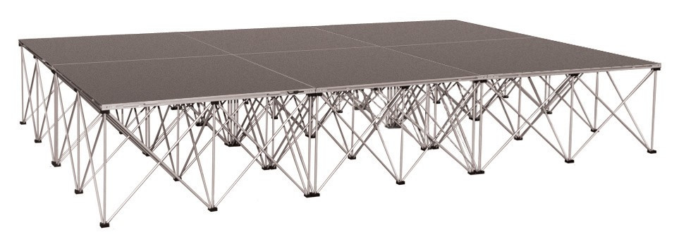 Drum Riser Platforms With Collapsible Risers - 6sq Meter