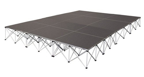 12 SQUARE METER BASIC STAGE (6 PCS. OF 2M X 1M  PLATFORMS)