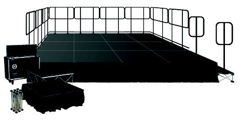 8 Square Meters Stage Intellistage Stage Kits