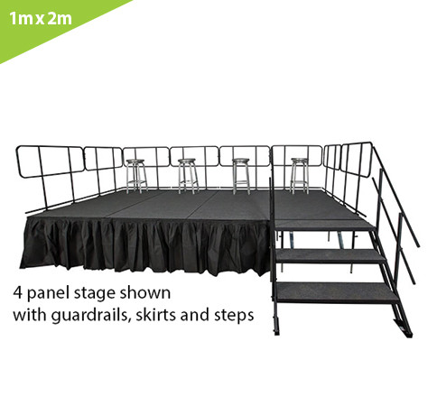 1 M X 2 M STAGE SYSTEM (2 PCS. OF 1M X 1M PLATFORMS)