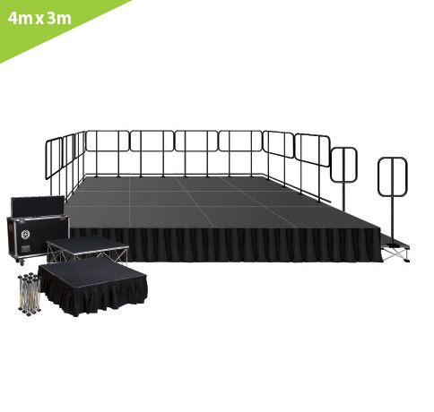 4 M X 3 M STAGE SYSTEM (6 PCS. OF 2M X 1M  PLATFORMS)
