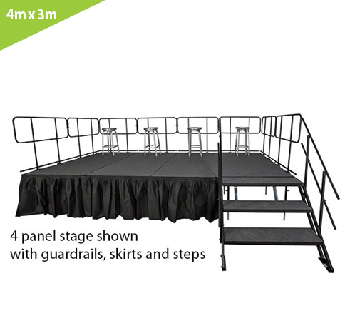 4 M X 3 M STAGE SYSTEM (12 PCS. OF 1M X 1M  PLATFORMS)
