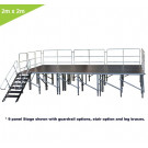 2 SQ. M. ADJUSTABLE HEIGHT STAGE SYSTEMS