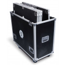 Flight Case for 6 pcs. of 1M x 1M platforms with matching risers